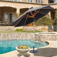 9 Ft Patio Umbrellas With Tilt by Galtech 9 Ft Rotational Tilt Wood Sunbrella Patio Umbrella