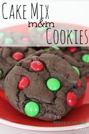 Cake Mix M&M Cookies The Exhausted Mom