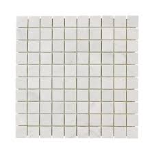 jeffrey court carrara white 12 in x 12 in x 8 mm marble mosaic