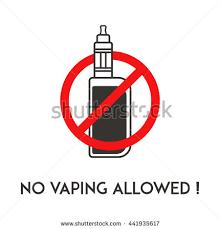 NO Vape Sign No Vaping Allowed Area Notification