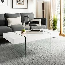 Details About Modern Black Coffee Table Rectangular X Design Contemporary Living Room Accent