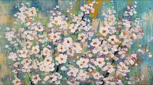EASY Cotton Swab Flower Blossoms LIVE Acrylic Painting Tutorial