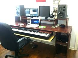Elegant Music Studio Desks Throughout Desk Simple Home Recording Diy Regarding Plans 11