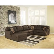 Brown Sectional Living Room Ideas by Furniture Della Left Sectional Sofa With Storage Ottoman In Brown