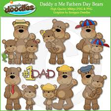 Daddy N Me Father S Day Bears Clipart