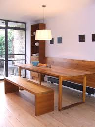 Kitchen Bench Seating Diy Dining Room Contemporary With Recessed Handles Wooden Table Pendant
