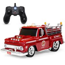2.4 GHz Remote Control Fire Engine Truck - Red/Black – Best Choice ...