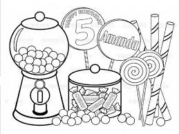 Coloring Pages Candy Inside