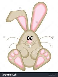 Cute easter bunny clipart shutterstock