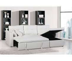 canapé avec méridienne convertible magnifique hercules blanc canapé 3 places convertible avec