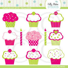 Bright Pink and Lime Green Cupcakes