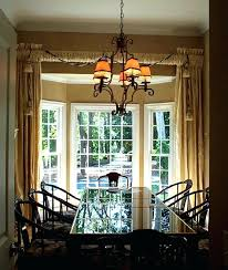 Bay Window Treatments Dining Room For Windows In Of Nifty