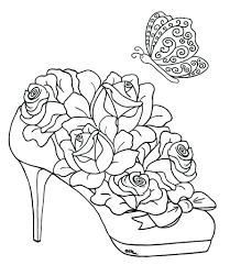 Printable Rose Coloring Pages For Adults Heart Roses Hearts Print Free Sheets Full Size