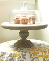 Wood Cake Stand Rustic Plaques Wooden With Glass Dome