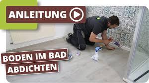 feuchtraumboden für badezimmer bodenbelag abdichten