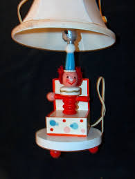 Underwriters Laboratories Portable Lamp by Vintage Childrens Clown In A Box Lamp With Original Lamp Shade