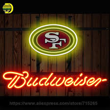fashion neon sign budweiser san francisco handcrafted real glass