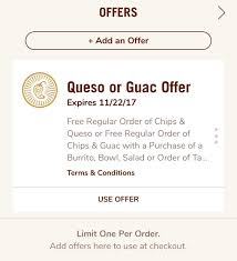 Free Chips & Guacamole (or Queso) With Entree Purchase: Chipotle App ... This New Chipotle Rewards Program Will Get You The Free Guac Gift Card Promotion Toddler Lunch Box Ideas Daycare Teacher Appreciation Week Deals 2018 Chipotle Wii U Coupons Best Buy Discounts Offers Rebelcard University Of Nevada Las Vegas Mexican Grill Posts Facebook Clever Trick Can Save You Money On Wikibuy Sms Autoresponder Example Rain Check Lunch Tatango Chipotles Burrito Coupon Uses Save To Android Pay Button Allheart Code Archives Wish Promo Code Smoky Chicken In The Crockpot Money Saving Mom Pin By Nick Good Print Ads I Like How To A For 3