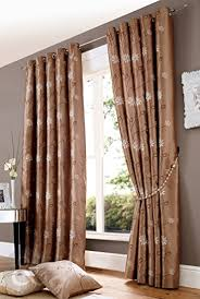 Faux Silk Eyelet Curtains by Amazon Com Floral Embroidered Faux Silk Eyelet Curtains Ready