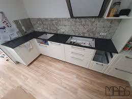 meerbusch ikea küche mit granit arbeitsplatten steel grey