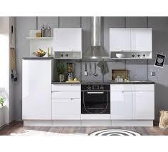 küchenblock mit weißer hochglanzfront stauraum für töpfe