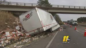 Ramen Noodle Truck Crash Blocks I-95 | Abc11.com Watch A Truck Driver Defy Physics To Avoid Crash Autotraderca 3 Semitruck Due Inattention Snarls Blaine Crossing Trucks Accidents Semi Crashes Truck Crash Accident Remote Control Semitruck How Cape Did It Youtube Watch Train Enthusiast Catches Bangor Collision On Video Diesel Stock Photos Truck Crash Compilation Semi Trucks Driving Fails Car Crashes In Volving Two Semitrucks Closes Portion Of I10 Crazy Highway Covered In Corn Following Twovehicle Accident Public Video Ctortrailer Into Stopped And Chp Unit