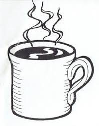 Hot Coffee Clipart Black And White 8