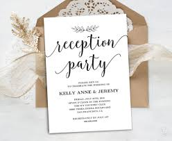Wedding Reception Invitation Printable Party Card