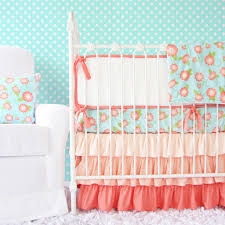 Coral And Mint Crib Bedding by Caden Lane Ikat Crib Bedding Home Beds Decoration