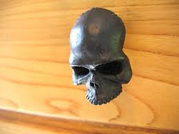 Cabinet Knob Backplate Black by Black Human Skull Cabinet Knob Drawer Pull Hardware By Mrd74