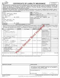 Insurance Certificate Template New Bond