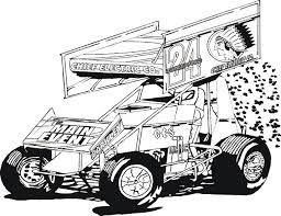 Coloring Book Pages Sonny Sayre Sprint Car