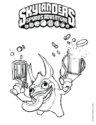 Coloring Pages Skylanders Giants Printable Colouring To Print Free Full Size