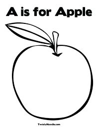 Full Image For Letter A Apple Coloring Pages Color Tree Page