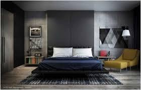 chambre adulte design blanc photo chambre adulte design mur aspect béton literie bleu blanc