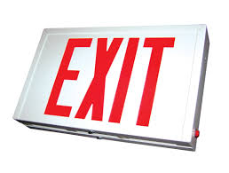 exit signs led exit signs robo e series mule lighting