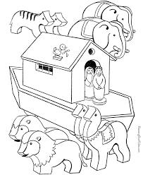 Free Printable Noah Bible Noahs Ark Coloring Pages