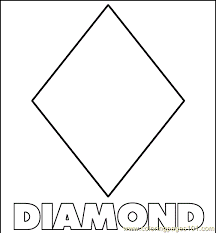 Diamond Shape Coloring Page