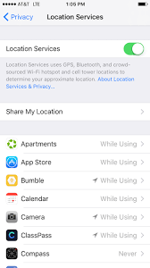 How to Turn f Location Services on an iPhone
