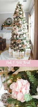 Pink And Gold Floral Christmas Tree Flowers For ChristmasChristmas Decorations