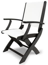 amazon com polywood 9000 bl901 coastal folding chair black white