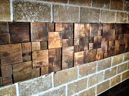 copper tile and rustic on glass mosaic insert with ditra