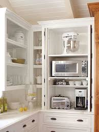 Top Corner Kitchen Cabinet Ideas by Best 25 Microwave Cabinet Ideas On Pinterest Small Closed