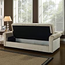 Serta Convertible Sofa With Storage by Serta Dream Thomas Convertible Sofa Light Brown Hayneedle