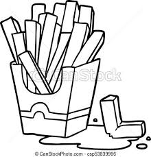 Line Drawing Of A Junk Food Fries Rh Canstockphoto Com Cartoon Drawings All