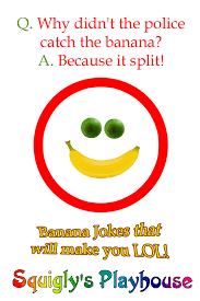 Halloween Jokes And Riddles For Adults by Banana Jokes At Squigly U0027s Playhouse