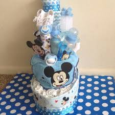 Mickey Mouse Tug Boat Diaper Cake