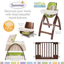 Summer Infant Decorative Extra Tall Gate by Summer Infant Bentwood Highchair Giveaway Thrifty Nifty Mommy