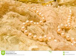 Lace And Pearls Vintage Feel Of Stock Photo