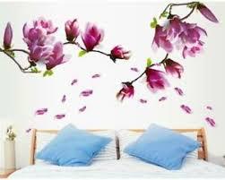 wandtattoo schlafzimmer wohnzimmer blumenranke tulpe lila 60